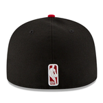 New Era 59FIFTY NBA Chicago Bulls Team Color Fitted Hat Black 2 Tone