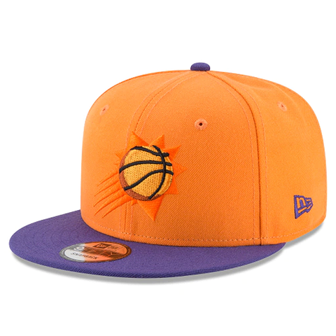 New Era 9FIFTY NBA Phoenix Suns Team Basic Adjustable Snapback Orange 2 Tone