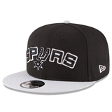 New Era 9FIFTY NBA San Antonio Spurs Team Basic Adjustable Snapback Black 2 Tone