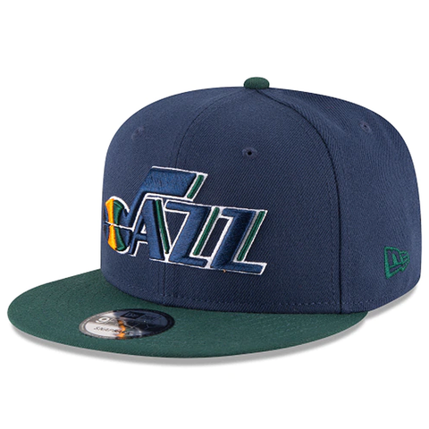 New Era 9FIFTY NBA Utah Jazz Team Basic Adjustable Snapback Blue 2 Tone