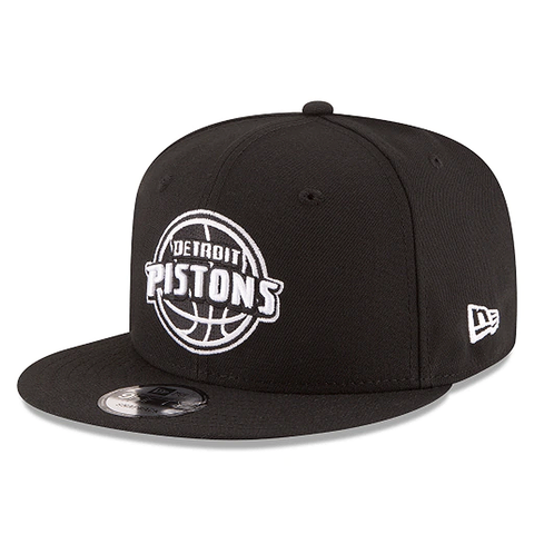 New Era 9FIFTY NBA Detroit Pistons Team Basic Adjustable Snapback Black