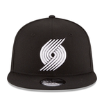New Era 9FIFTY NBA Portland Trailblazers Team Basic Adjustable Snapback Hat Black