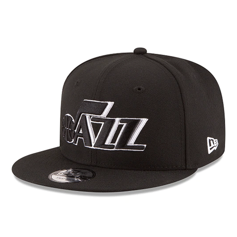 New Era 9FIFTY NBA Utah Jazz Team Basic Adjustable Snapback Black
