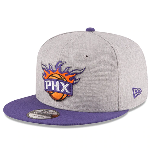 New Era 9FIFTY NBA Phoenix Suns Team Basic Adjustable Snapback Heather Grey 2 Tone