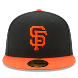 New Era 59FIFTY MLB San Francisco Giants Authentic Collection Fitted Hat Black/Orange