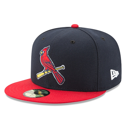 New Era 59FIFTY MLB St. Louis Cardinals Authentic Collection ALT 2 Fitted Hat Navy/Red