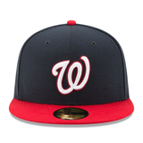 New Era 59FIFTY MLB Washington Nationals Authentic Collection Fitted Hat Navy/Red