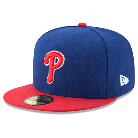 New Era 59FIFTY MLB Philadelphia Phillies Authentic Collection On-Field Fitted Hat Blue/Red