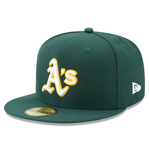 New Era 59FIFTY MLB Oakland Athletics Authentic Collection On-Field Fitted Hat Dark Green