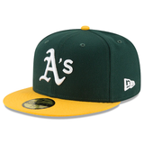New Era 59FIFTY MLB Oakland Athletics Authentic Collection On-Field Fitted Hat Green/Yellow