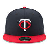 New Era 59FIFTY MLB Minnesota Twins Authentic Collection On-Field Fitted Hat Navy/Red