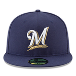 New Era MLB 59FIFTY Milwaukee Brewers Authentic Collection On Field Fitted Hat Blue