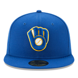 New Era 59FIFTY MLB Milwaukee Brewers Authentic Collection On-Field Fitted Hat Blue
