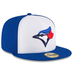 New Era 59FIFTY MLB Toronto Blue Jays Authentic Collection Fitted Hat White/Blue