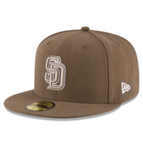 New Era 59FIFTY MLB San Diego Padres Authentic Collection Fitted Hat Brown