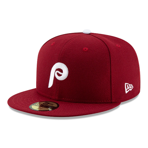 New Era 59FIFTY MLB Philadelphia Phillies Authentic Collection ALT2 On-Field Fitted Hat Burgundy