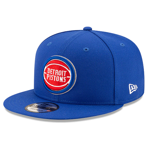 New Era 9FIFTY NBA Detroit Pistons Team Basic Adjustable Snapback Blue