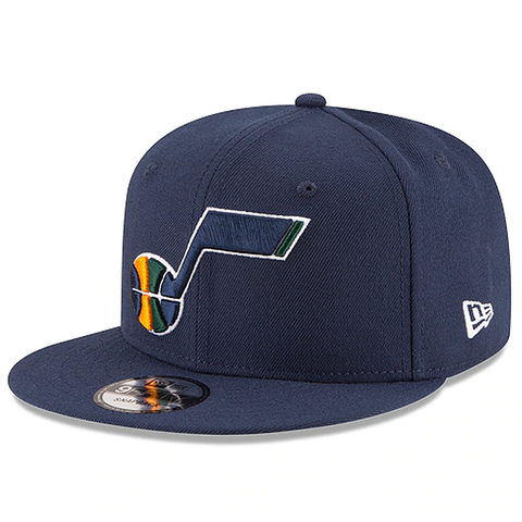 New Era 9FIFTY NBA Utah Jazz Team Basic Adjustable Snapback Navy
