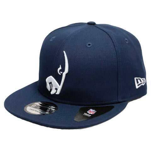 New Era NFL Los Angeles Rams Elemental Unique Logo 9FIFTY Snapback Hat Navy