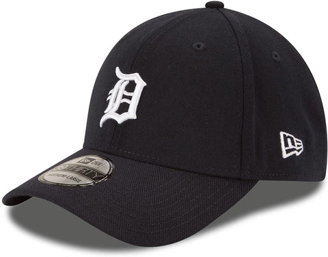 New Era MLB Detroit Tigers Team Classic 39THIRTY Stretch Fit Hat Black/White