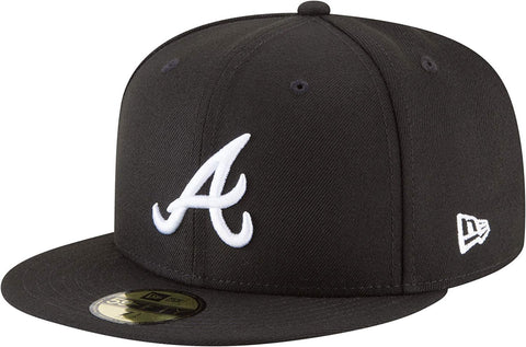 New Era 59Fifty MLB Atlanta Braves Basic Black/White Fitted Hat
