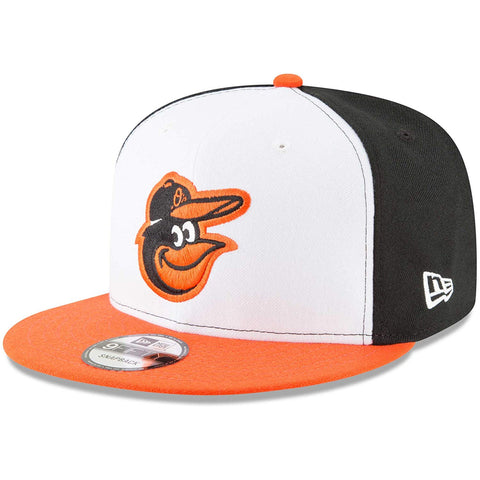 New Era MLB Baltimore Orioles Team Color 9FIFTY Snapback Hat White/Orange