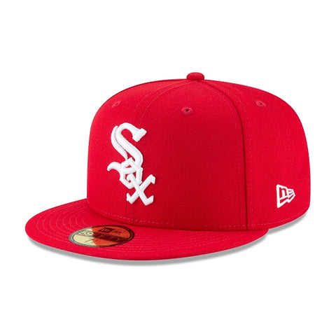 New Era 59Fifty MLB Chicago White Sox Scarlet Red Basic Fitted Hat