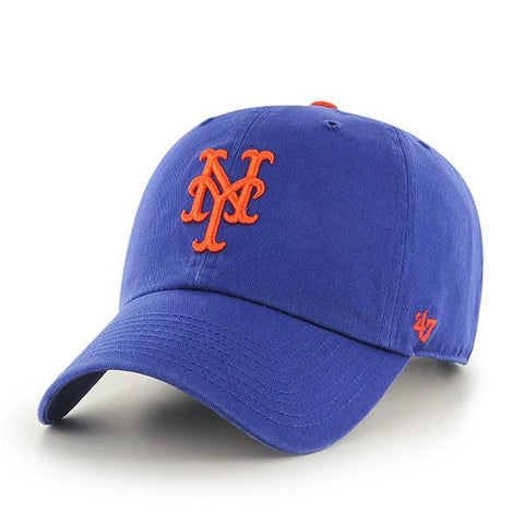 '47 Brand MLB New York Mets Clean Up Adjustable Hat Blue