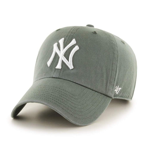 '47 Brand MLB New York Yankees Clean Up Adjustable Hat Moss Green/White