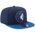 New Era 9FIFTY NBA Minnesota Timberwolves Team Basic Adjustable Snapback Blue 2 Tone