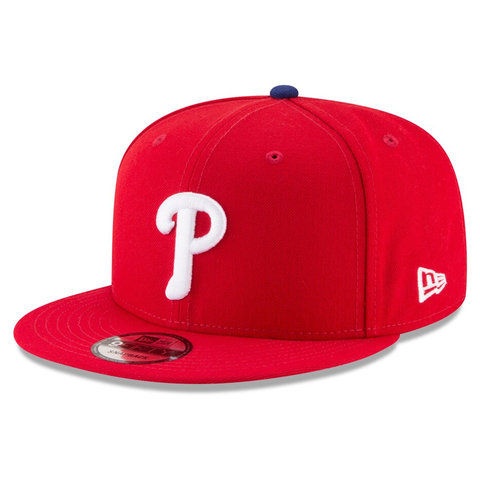 New Era 9FIFTY MLB Philadelphia Phillies Team Basic Adjustable Snapback Hat Red