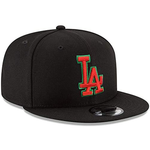 New Era 9FIFTY MLB Los Angeles Dodgers Basic Snapback Hat Black Red Green