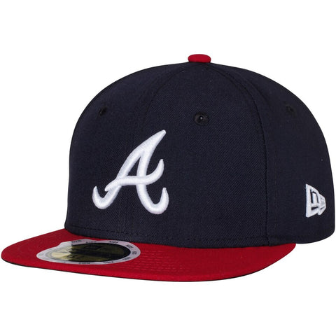 New Era MLB Atlanta Braves Youth Home Authentic Collection On-Field 59FIFTY Fitted Hat Navy&Red