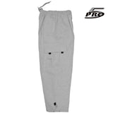 PRO 5 Men's Heavy Weight Fleece Cargo Pants Gym Work Pants Heather Grey