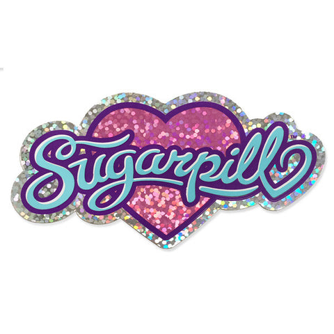 Heart Logo Glitter Sticker