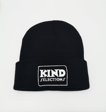 Kind Selections LOGO Knit Beanie - Black