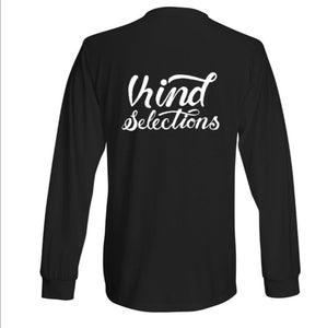 Choose Blue Long Sleeve T-shirt by Slothking x Kind Selections - Black