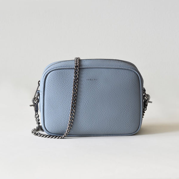 Grace Mini Cross-Body - Light Nude Blue