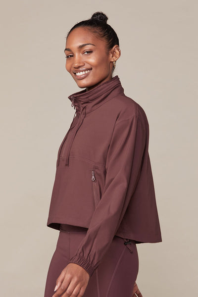Cocoa Hummingbird Half Zip Windbreaker