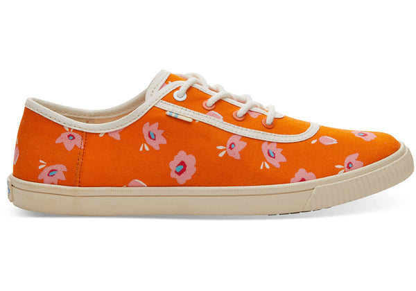 Persimmon Spring Flower Print Women's Carmel Sneakers Topanga Collection