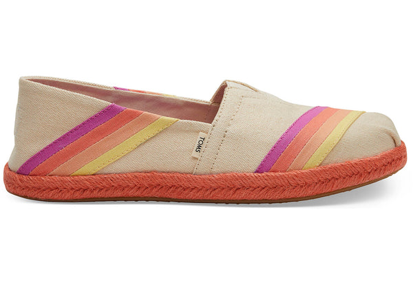 Multi-Color Sunset Canvas Women's Espadrilles