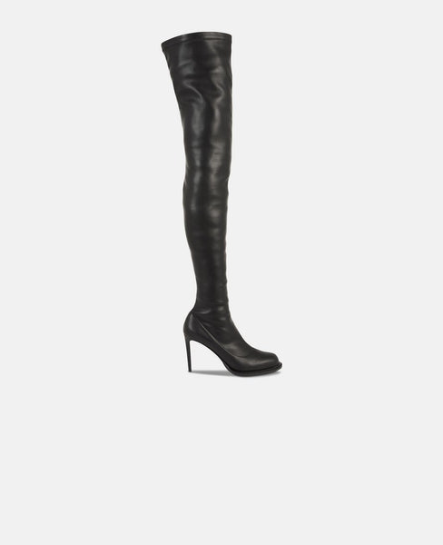 Black Thigh-High Boots