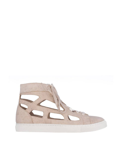 Cutout High Sneaker Chalk
