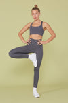 Smoke Compressive High-Rise Legging
