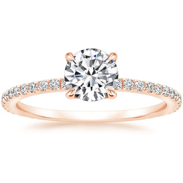 14K Rose Gold Demi Diamond Ring (1/3 ct. tw.)