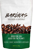 Barùkas: Discover a Supernut - Roasted Baru Nuts in a 12 ounce (340 gram) Resealable Bag for Freshness