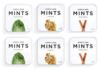 Breath Mints by Simply Gum, Assorted (Peppermint, Ginger, Cinnamon), Vegan, Non GMO, 45 Pieces, Pack of 6