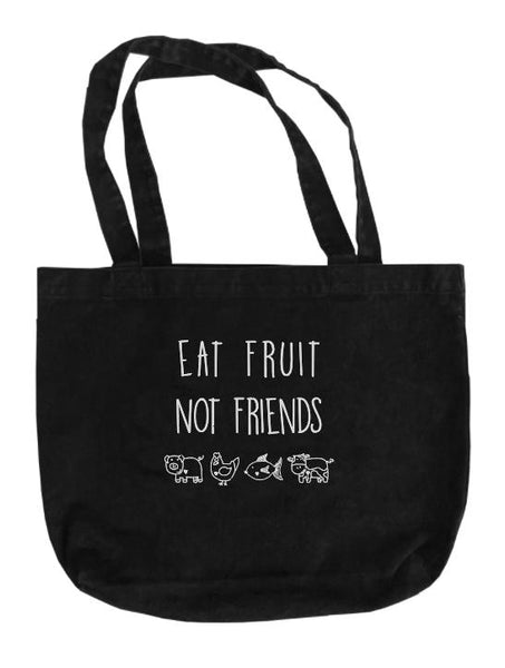 Eat Fruit Stonewash Tote Bag