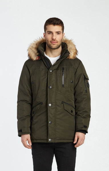 Jacob Mid Length Jacket with pop color trims