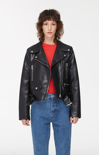 Eva Vegan Leather Biker Jacket